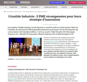 Bretagne Economique - article Crisalide Industrie