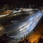 Gare de Rennes (vue de nuit)